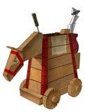 Caballo de madera mecánico Imagen de archivo libre de regalías
