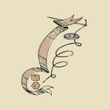 Caballo de mar abstracto Ilustración del Vector