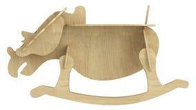 Caballo de oscilación de madera estilizado Fotos de archivo