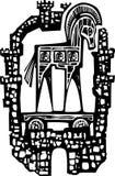 Caballo de Troya en paredes Foto de archivo libre de regalías