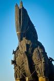 Caballo de Troya y cielo azul imagen de archivo libre de regalías