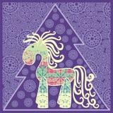 caballo del Año Nuevo 2014. Fotografía de archivo libre de regalías