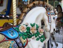 Caballo del carrusel Foto de archivo libre de regalías