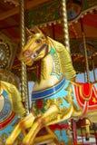 Caballo del parque de atracciones Fotografía de archivo