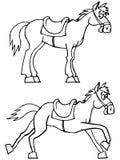 Caballo divertido ilustración del vector