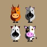 caballo divertido del toro de la vaca del carácter del vector del ejemplo animal Fotografía de archivo libre de regalías