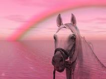 Caballo en el arco iris libre illustration