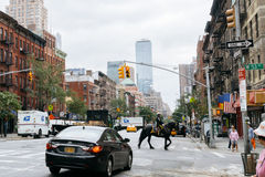 Caballo en la calle de Nueva York fotos de archivo libres de regalías