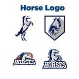 Caballo Logo Template Fotografía de archivo