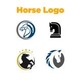 Caballo Logo Template Fotos de archivo
