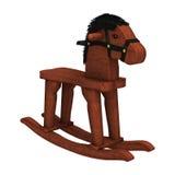 caballo mecedora de la representación 3D en blanco Fotos de archivo