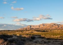 Caballo Mountains, New Mexico. In soft sunset light royalty free stock image