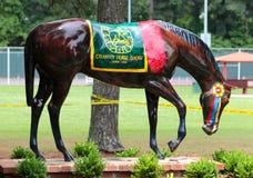 Caballo pintado a mano en el Germantown, demostración del caballo de la caridad del TN Fotografía de archivo
