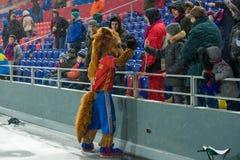Caballo - símbolo de CSKA en el juego de fútbol Imagen de archivo
