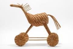 Caballo strawy de mimbre Fotografía de archivo
