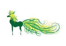 Caballo verde ilustración del vector