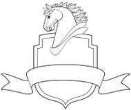 Caballo y blindaje stock de ilustración
