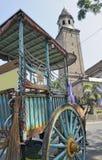 Caballo y carro tradicionales, Manila Foto de archivo libre de regalías