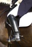 Caballo y jinete del Dressage Foto de archivo libre de regalías