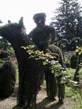 Caballo y jinete del Topiary imagen de archivo
