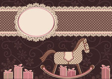 Caballo y marco (para su texto) Imagen de archivo libre de regalías