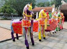 Caballos coloridos del festival Fotografía de archivo