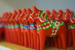 Caballos de Dala fotografía de archivo