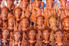Caballos de la arcilla de Bankura foto de archivo