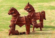 Caballos de la terracota Imagen de archivo libre de regalías