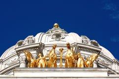 Caballos de oro Foto de archivo