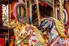 Caballos del carrusel Imagen de archivo libre de regalías