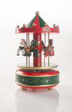Caballos del carrusel o caballos clásicos del carrusel en fondo Imagen de archivo libre de regalías