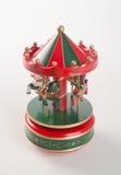 Caballos del carrusel o caballos clásicos del carrusel en fondo Foto de archivo libre de regalías