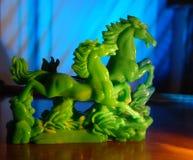 Caballos del jade Fotos de archivo