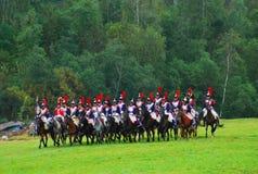 Caballos del paseo de los soldados Imagen de archivo libre de regalías