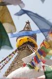 Caballos del viento en Boudhanath Fotografía de archivo libre de regalías