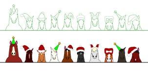 Caballos en fila ilustración del vector