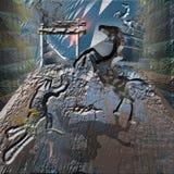 Caballos en la cueva Imagen de archivo