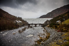 Caban Coch Dam , Elan Valley , Wales Stock Images
