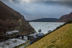 Caban Coch Dam , Elan Valley , Wales Royalty Free Stock Photography