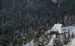 Cabana alpina Imagens de Stock Royalty Free