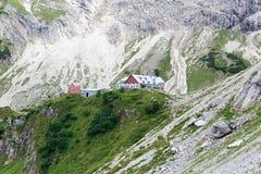 Cabana alpina Prinz-Luitpold-Haus fotos de stock