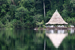 cabana in amazon river, brazil Royalty Free Stock Photos