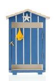 Cabana azul da praia fotografia de stock