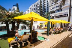 Family Pool Holidays Resort Stock Photo