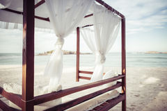 Cabana on a Beautiful Beach in Mexico Stock Images