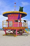 Cabana cor-de-rosa da praia de Florida Fotografia de Stock Royalty Free