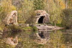 Cabana da Idade da Pedra imagem de stock royalty free