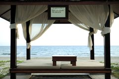 Cabana da massagem Foto de Stock Royalty Free