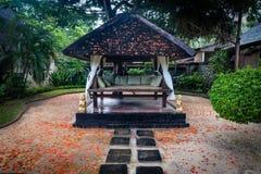 Cabana da massagem de Balinesian Fotografia de Stock